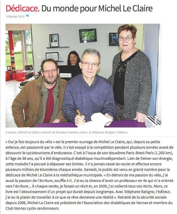 Lancement Michel Le Claire