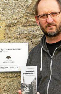 Stéphane Batigne, éditeur à Questembert depuis quatre ans est aussi l'auteur de plusieurs livres.